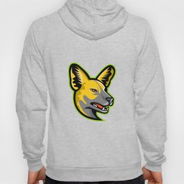 African Wild Dog Mascot Hoody