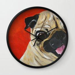 Pug-tastic Wall Clock