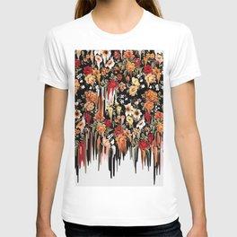 Free Falling, melting floral pattern T-shirt