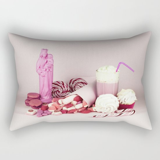 Sweet pink doom - still life Rectangular Pillow