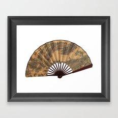 Japanese fan Framed Art Print