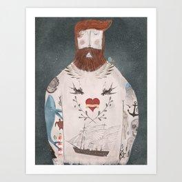 ode to the sea Art Print