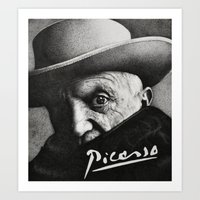 picasso Art Prints featuring picasso by Olivia Yuen