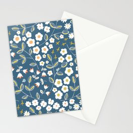 Ditsy Blue Stationery Cards