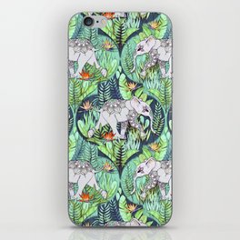 Little Elephant on a Jungle Adventure - faded vintage version iPhone Skin
