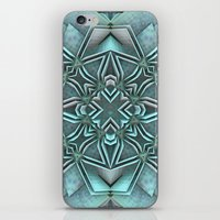 snowflake iPhone & iPod Skins featuring Snowflake by Lyle Hatch