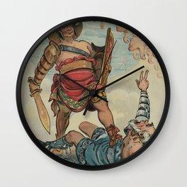 Vintage Illustration of a Gladiator Fight (1898) Wall Clock