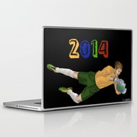 brazil Laptop & iPad Skins featuring Brazil 2014 by Lost Link Art