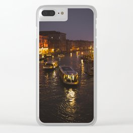 The hustle and bustle of Venice Clear iPhone Case