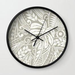 Vintage Organic Samoan Tribal Design Wall Clock