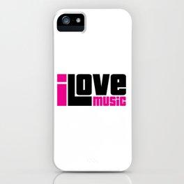 I Love Music Quote iPhone Case