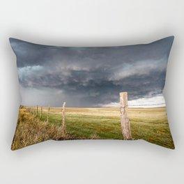 Soft - Storm Along Fence Line in Texas Panhandle Rectangular Pillow