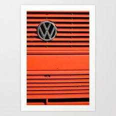 Red Volkswagen Art Print