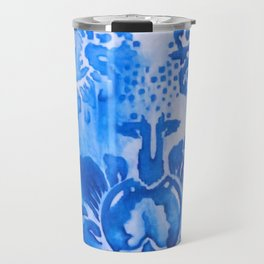 Pixilated Blue Print Travel Mug