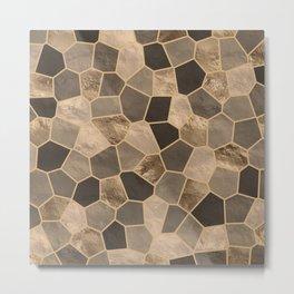 Mosaic Pattern - Golds #2 Metal Print