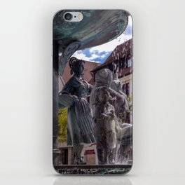 DE - Baden-Wurttemberg : Fountain on the Marketplace of Ehingen iPhone Skin