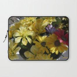 WHITTLE YELLOW BASKET OF FLOWERS Laptop Sleeve
