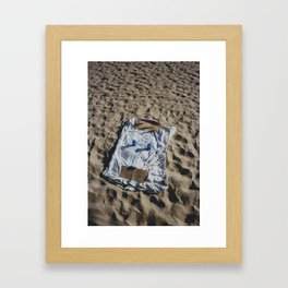 Veterans on the beach Framed Art Print