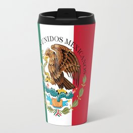 Mexican national flag (augmented scale) with Coat of Arms (overlaid) Travel Mug