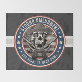 Second Amendment Throw Blanket