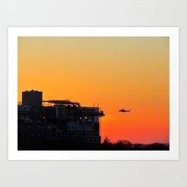 Sunset Landing at Maine Med Art Print