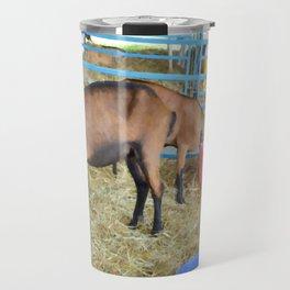 Family of Domestic Goats Travel Mug