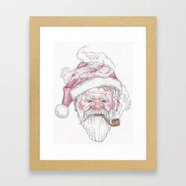 Santa Pipe Framed Art Print