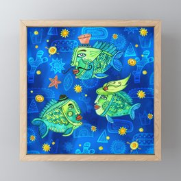 Fishes Aristocrats Framed Mini Art Print