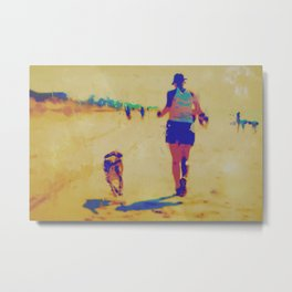 Beach Runner Metal Print