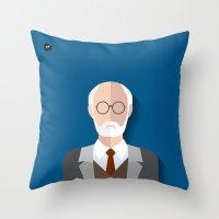 freud Throw Pillows featuring Freud by Diretório do Design