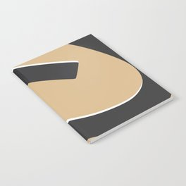 Squat nude abstract Notebook