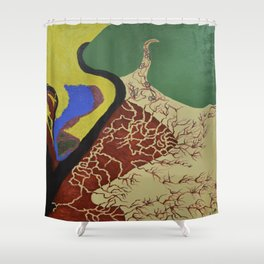 Unsuspecting Impacts Shower Curtain