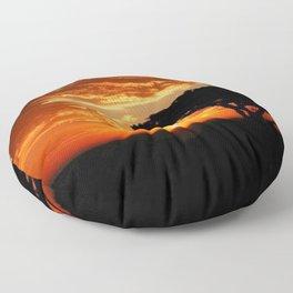 Fiery Dragon Floor Pillow