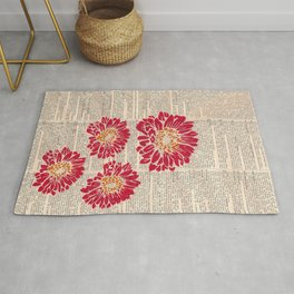 Red Daisies Rug