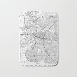 Sacramento Map Line Bath Mat
