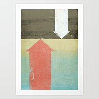 arrows Art Prints featuring Arrows by Metron