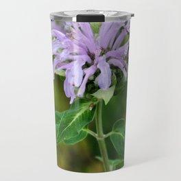 bee on purple flower Travel Mug