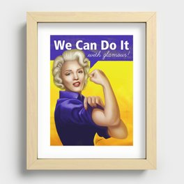We can do it with glamour! Recessed Framed Print