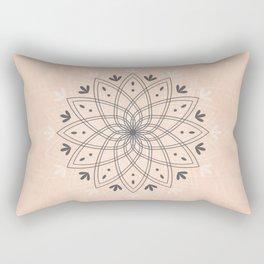 Bohemian Floral Mandala on Rose Pink Marble Rectangular Pillow