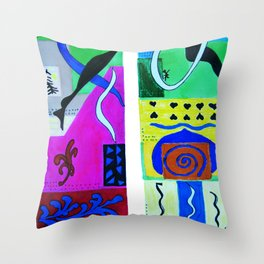 Paradise Color . Inspiration From Matisse Throw Pillow