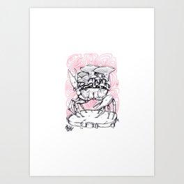 Graphic Crab Art Print