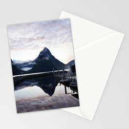 Sunset to die for at Milford Sound Stationery Cards