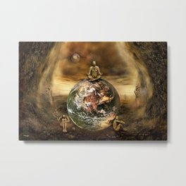Master of the World Metal Print