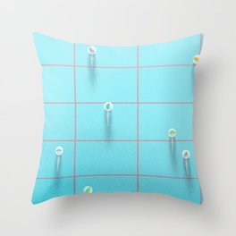 the marbles game Throw Pillow