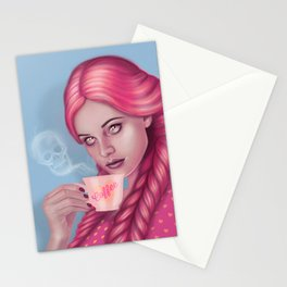 My Blood Type is Coffee Stationery Cards