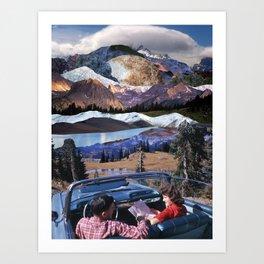 Fantastic trip to the mountains Art Print
