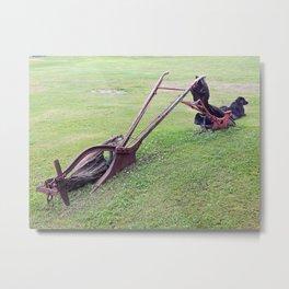 Antique Farm Plows Metal Print