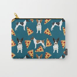 Rat Terrier pizza dog breed pet portrait dog pattern dog breeds gifts for dog lovers Carry-All Pouch