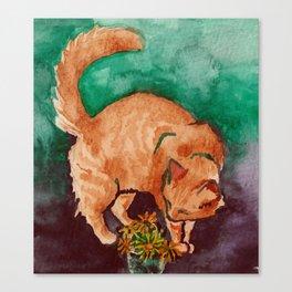 saint cat Canvas Print