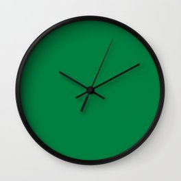 Solid Color Teal Green Wall Clock